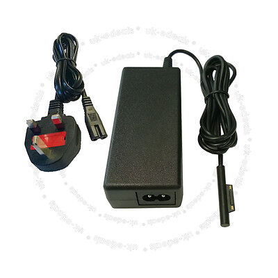 For Microsoft Surface Pro 3 Adapter Power Supply Charger 12V 2.58A with UK Cable