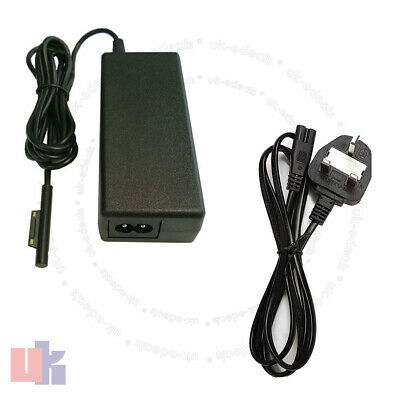 For Microsoft Surface Pro 3 AC Adapter Power Charger with UK Power with UK Cable