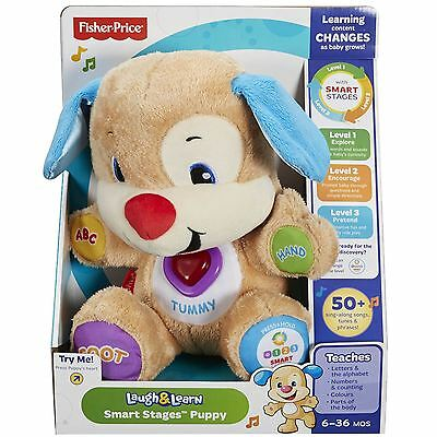 Fisher-Price Laugh & Learn Smart Stages Child Baby Plush Soft Puppy Toy 6m+ NEW