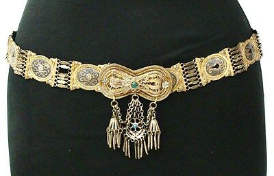 Antiques ottoman silver Belt ( Gold plated)