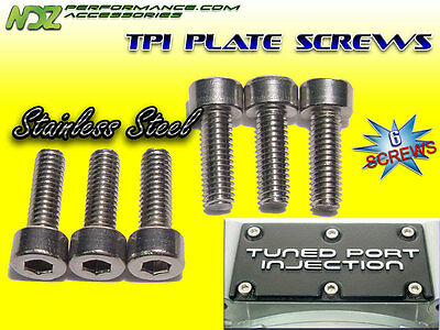 TPI Throttle Body Plate Stainless Screw 6 Piece Set Fits L98 LT1 LT4