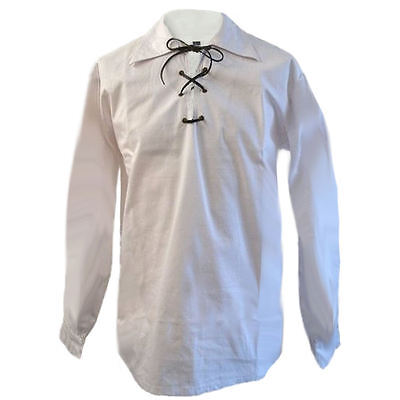 Tartanista Boys White Jacobite/Jacobean Scottish Ghillie Shirt Ages 3 - 14