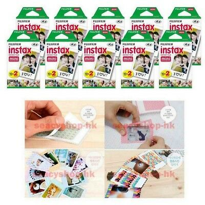 200 Sheet Fujifilm Instax Mini Film 200 Fuji instant photos 7s 8 90 Polaroid 300