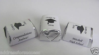 30 Personalized Class of 2019 Graduation Candy Hershey Nugget Labels Wrappers