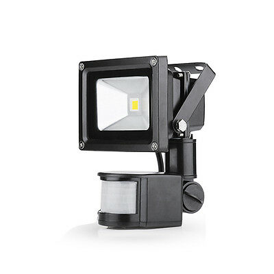 10W LED Floodlight Warm White With Projector Headlights Motion Detector Exterior
