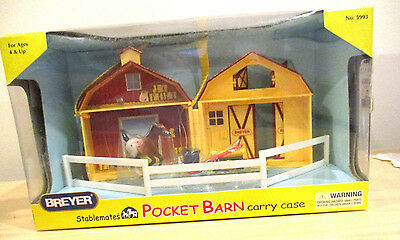 Breyer Stablemates Pocket Barn Carry Case #5993 - New In Open Box