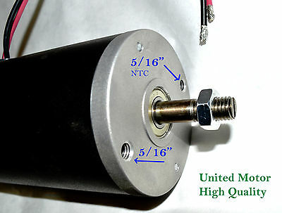 1 hp DC motor generator 230 volt United electric High Power permanent magnet