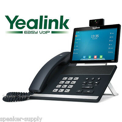 "Yealink SIP-T49G Video Executive Phone 8"" Touch Screen WiFi HD Camera 16 Line"