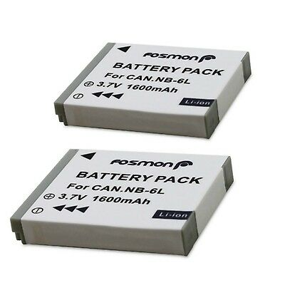 Fosmon NB-6L 1600mAh Replacement Battery Pack for Canon Powershot SX260 HS S9...