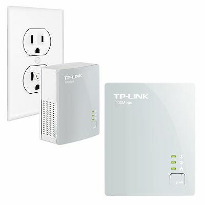 TP-LINK TL-PA4010KIT AV500 Nano Powerline Adapter Starter Kit Up to 500Mbps P...