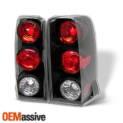 Fits 2002-2006 Cadillac Escalade Black Tail Lights Left+Right 2003 2004 2005