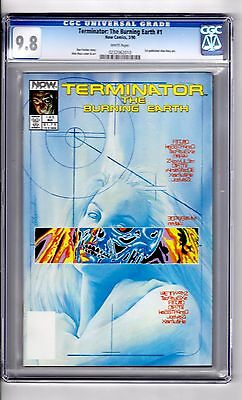 Terminator #1 (The Burning Earth) 9.8 CGC 1st Alex Ross Art.! Awesome Ross Cover