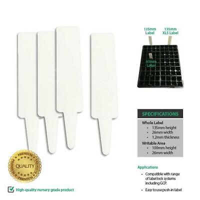 135mm XL, Plant Labels. Rigid white plastic, suitable for pot & seedling tray.