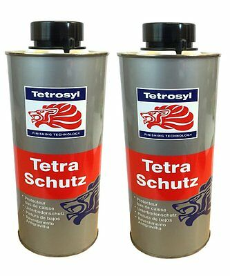 (PACK OF 2) 1L Tetra Shutz Underbody seal Black car rust protection underseal