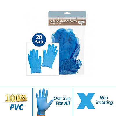 40 PVC Disposable Gloves Multipurpose Hand Protection Safety Garden Work Wear