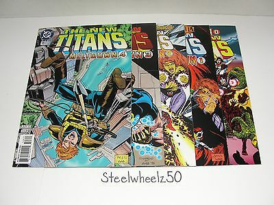 New Teen Titans #126-130 Comic DC 1996 LAST ISSUE 127 128 129 Meltdown Wolfman