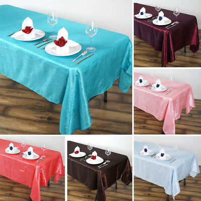"20 Wholesale Lot RECTANGLE 60x102"" Crinkled Taffeta TABLECLOTHS Wedding Party"
