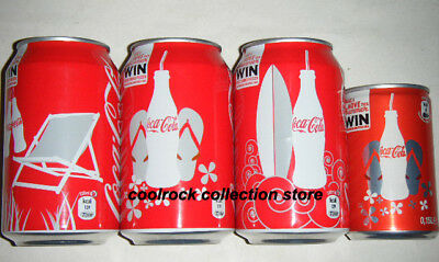 2011 Belgium coca cola SUMMER 4 cans set 330ml + 150ml