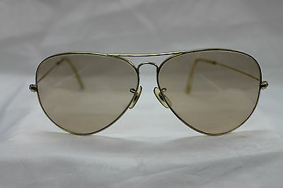 Vintage Ray Ban Large metal 62mm aviator, changeable  lenses 1/30-10k GO