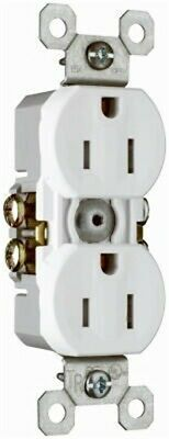 PASS & SEYMOUR 3232TRWCP8 WHITE DUPLEX OUTLET 15AMP - 10 PACK,No 3232TRWCP8
