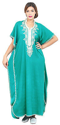 Kaftan Moroccan Caftan Women Arabian Beach Summer Long Dress Muslim Abaya Cotton