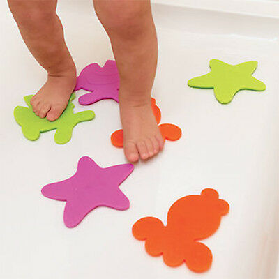 "BABIES ""R"" Us MINI BATH MATS NON SLIP SUCTION TODDLER SHOWER SAFETY PACK OF 6"