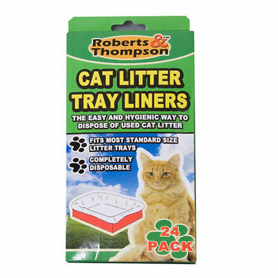 24 Pk Cat Litter Tray Liners Standard Size Dispose Litter Hygienically Waste