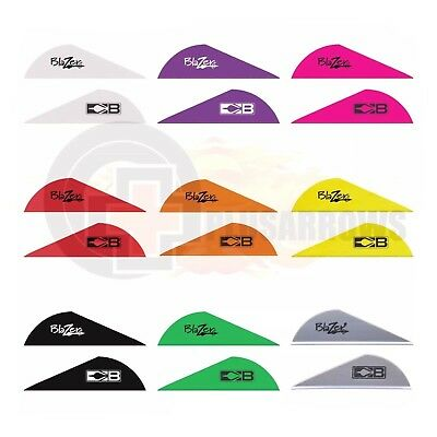 "100 Pack (2 x 50pk) Two Colour Choice 2"" Bohning Blazer Vane for Archery Arrows"