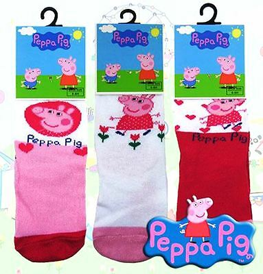 *End of Line SALE* Peppa Pig Character Ankle Socks 3 Assorted Styles 1 Pair Pack