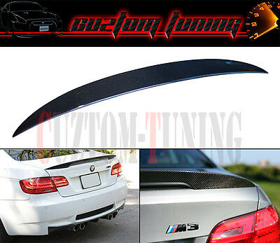 For 2007-2013 E92 2Dr Coupe High Kick Style Real Carbon Fiber Trunk Spoiler Wing