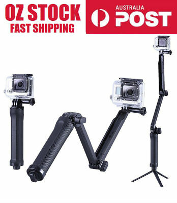 3 Way Adjustable Monopod Pole Selfie Stick camera tripod mount GoPro Hero4 3+3 2