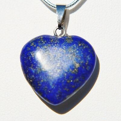 "Perfect Pendant™ - Lapis Lazuli Heart Pendant + 20"" Chain by ZENERGY GEMS™"