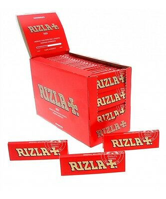 Rizla Red Rolling Paper Full Box Of 100 Booklets Single Size