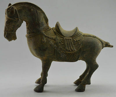 antique excellent Vintage Decorated Old Bronze Carved Zodiac Horse Statue