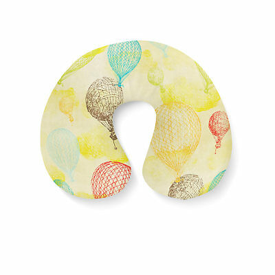 Inflatable Travel Neck Pillow - Vintage Hot Air Balloons