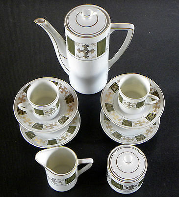 ( . Mtc Matsubara China Tea / Coffee Set - Pot Creamer Sugar 4 Cups  & Saucers )
