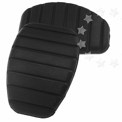2 x Black Clutch Pedal Pad Rubber Cover For Renault Clio Kangoo 8200183752