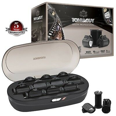 Toni & Guy TGHS6501UK Professional Heated Rollers Unique Duo Heat Technology New