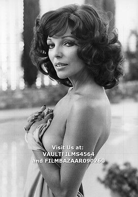 "JOAN COLLINS - 12"" x 8"" Saucy b/w Photograph MONEYCHANGERS 1977 #1377"