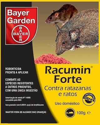 Bayer Racumin STRONG Granulated Bait Rodent Control Rat Mice Killer Home Garden