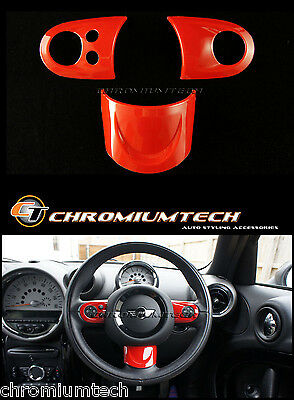MK2 MINI Cooper/S/ONE RED MF Steering Wheel Cover R55 R56 Hatch R57 R58 R59 NEW