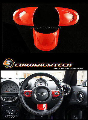 MK2 MINI Cooper/S/ONE RED NON MF Steering Wheel Cover R56 Hatch R55 Clubman R57