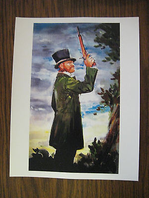 """Disney Haunted Mansion Dueling Ghosts Painting [ Left ] 8.5"""" x 11"""""""