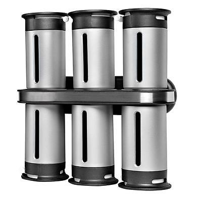 Anchor Ceramic Canister Set Zero Gravity Canister Wall Mount Magnetic Spice Rack