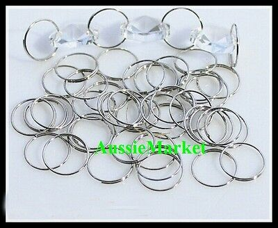 100 x split jump rings keyring ring stainless steel suncatcher connectors 10mm