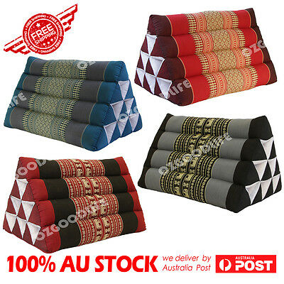 2XPACKS Thai Triangle Pillow Pad Cushion Handmade 100% Kapok Cotton 4 colours