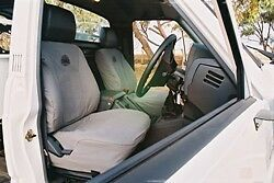 HX40105   Black Duck Canvas Seat Covers Toyota Hilux 05/05 to 07/15