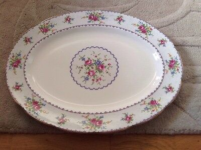 Large Serving Platter by Royal Albert Petit Point Pattern 1st Quality.