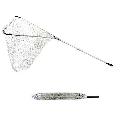 Fishing Landing Net Fish Telescopic Foldable Folding Aluminium Pole