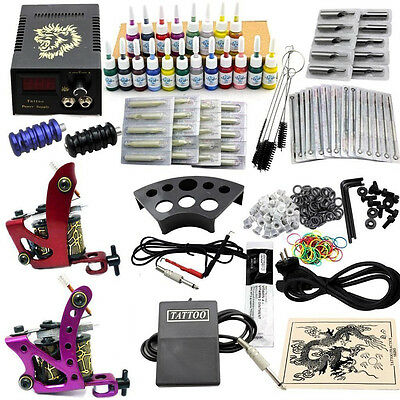 JM16 Professional Tattoo Kit Machine Equipment Set Komplett Tattoo Maschine Kit